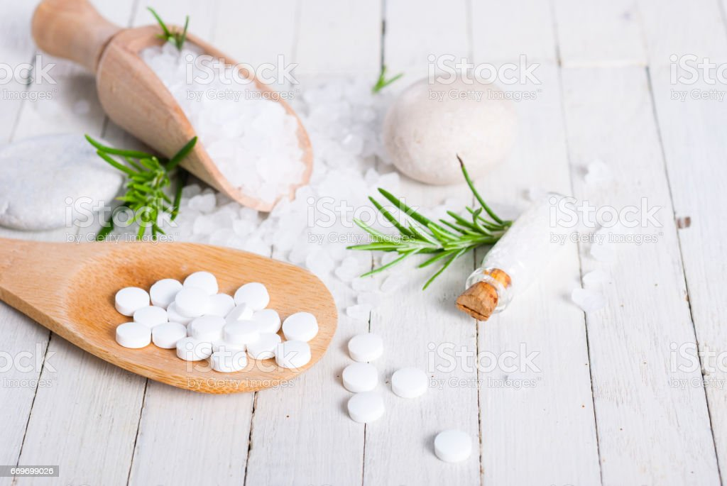 Salt therapy stock photo