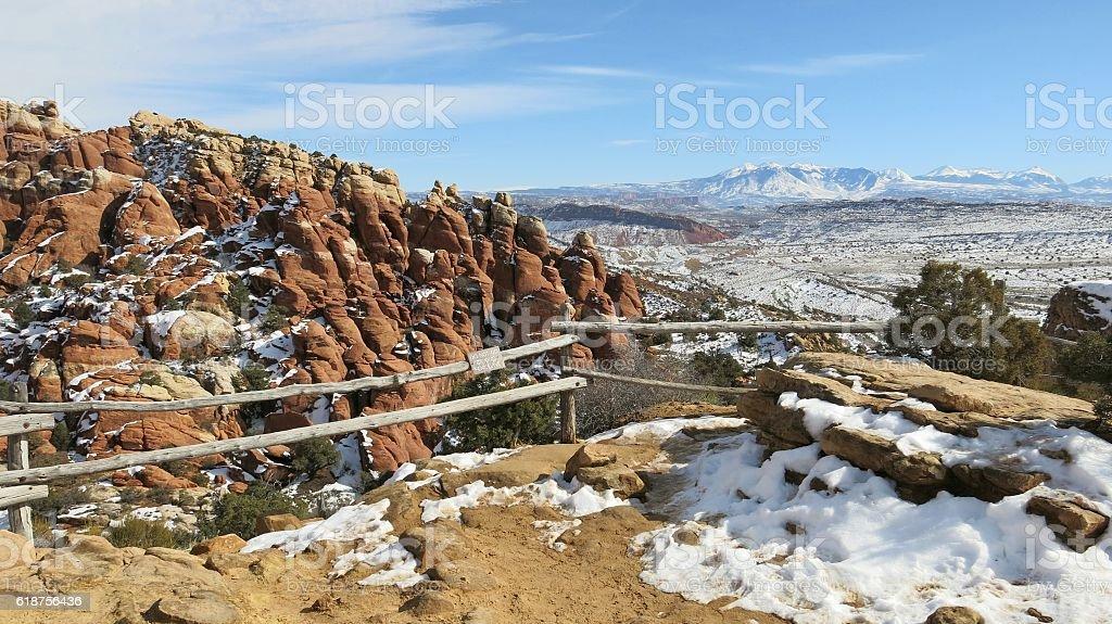 Salt Valley Overlook, Fiery Furnace, Arches National Park, Utah stock photo