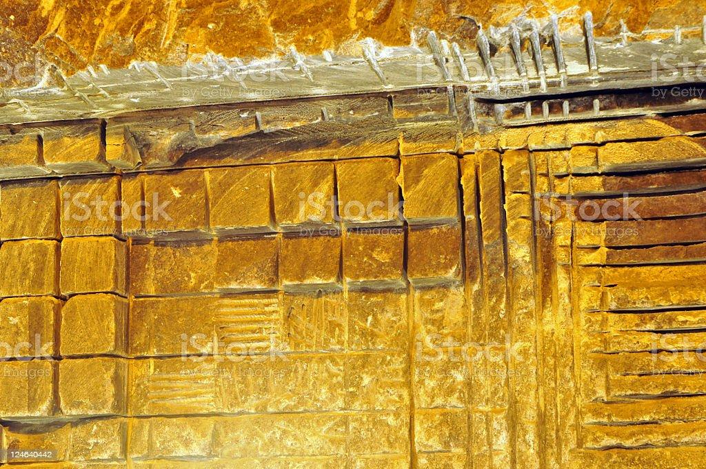 salt wall gold light royalty-free stock photo