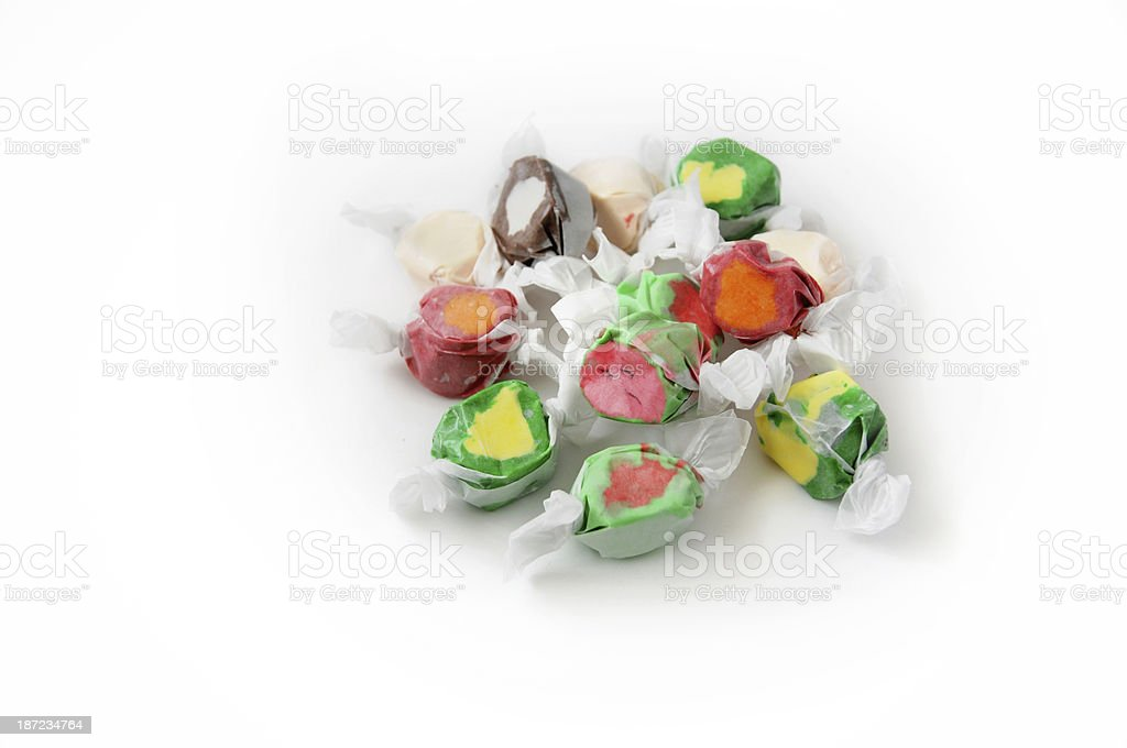 Salt Water Taffy Candy royalty-free stock photo