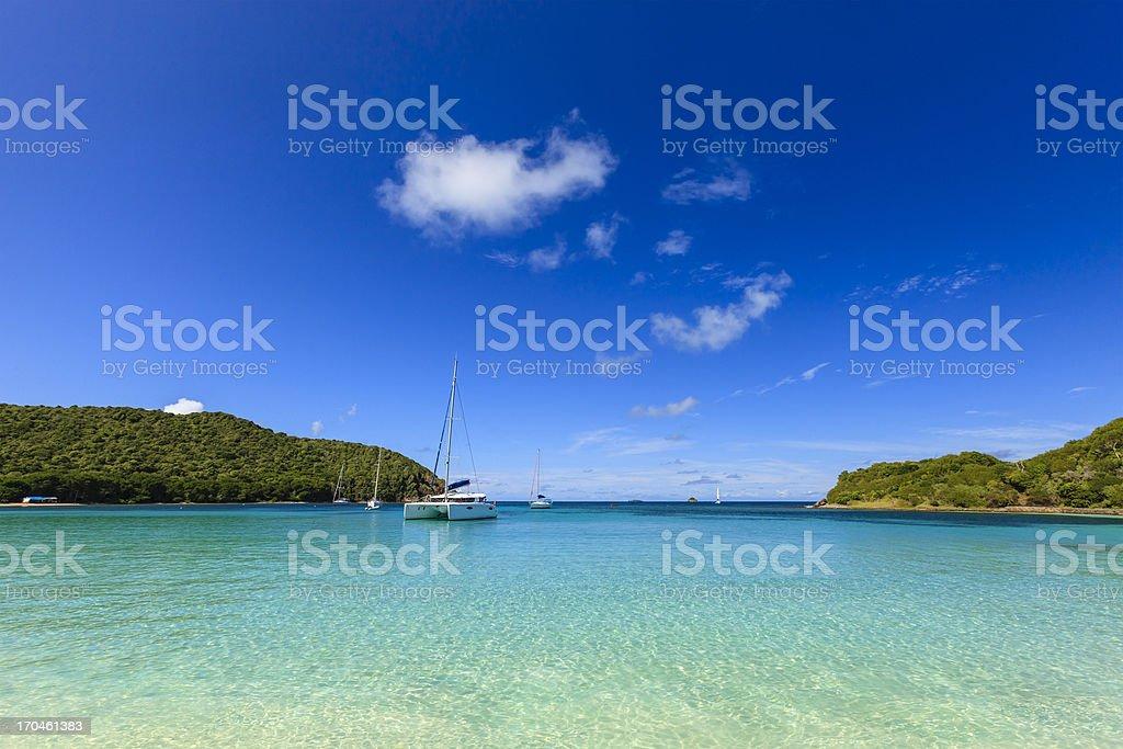 Salt Whistle Bay, Mayreau stock photo