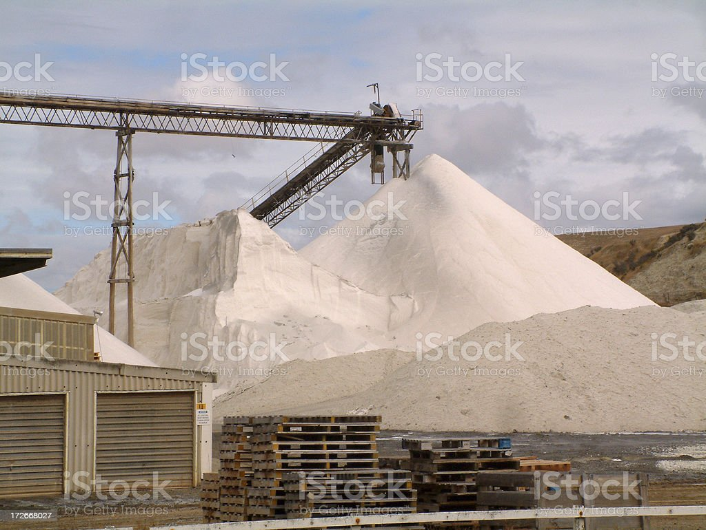 Salt Works royalty-free stock photo