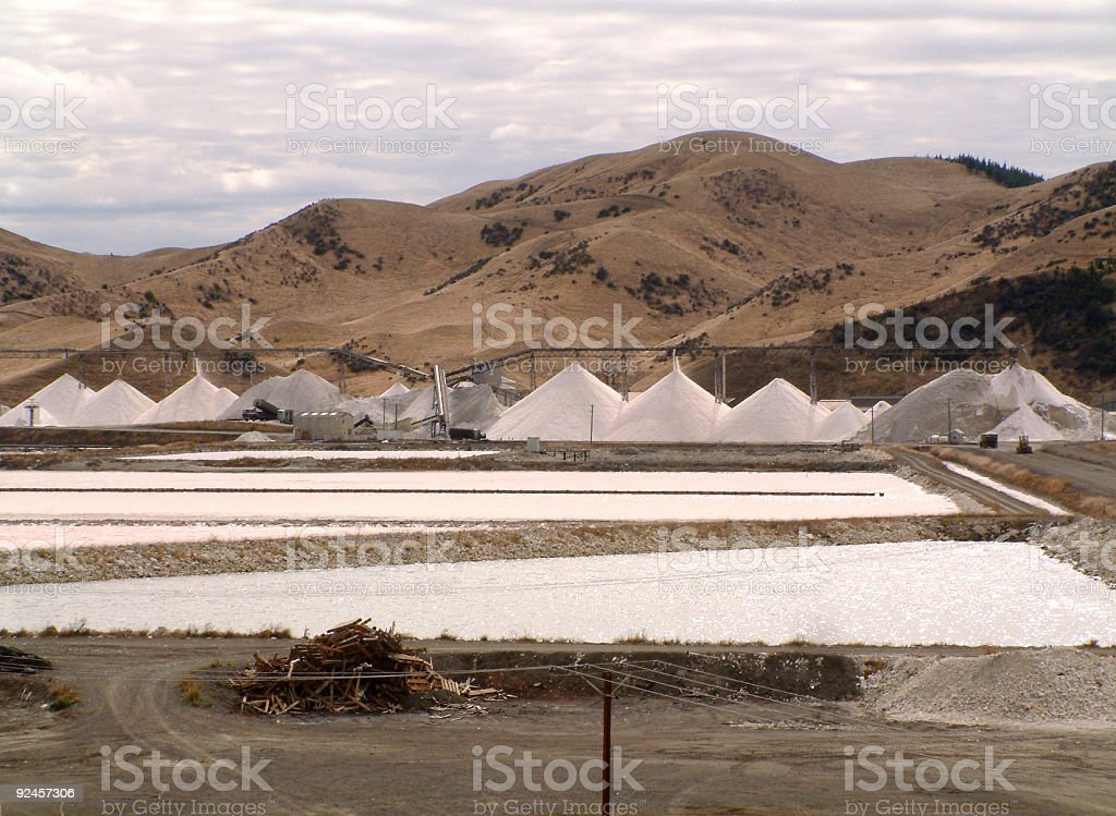 Salt Works stock photo