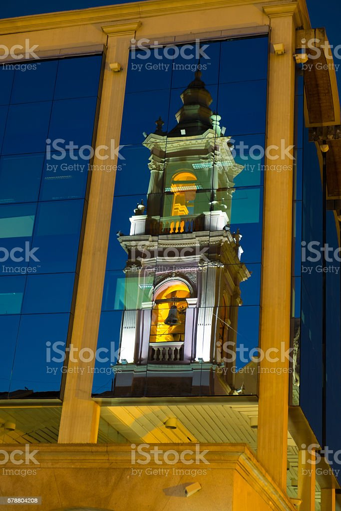 Salta cathedral stock photo