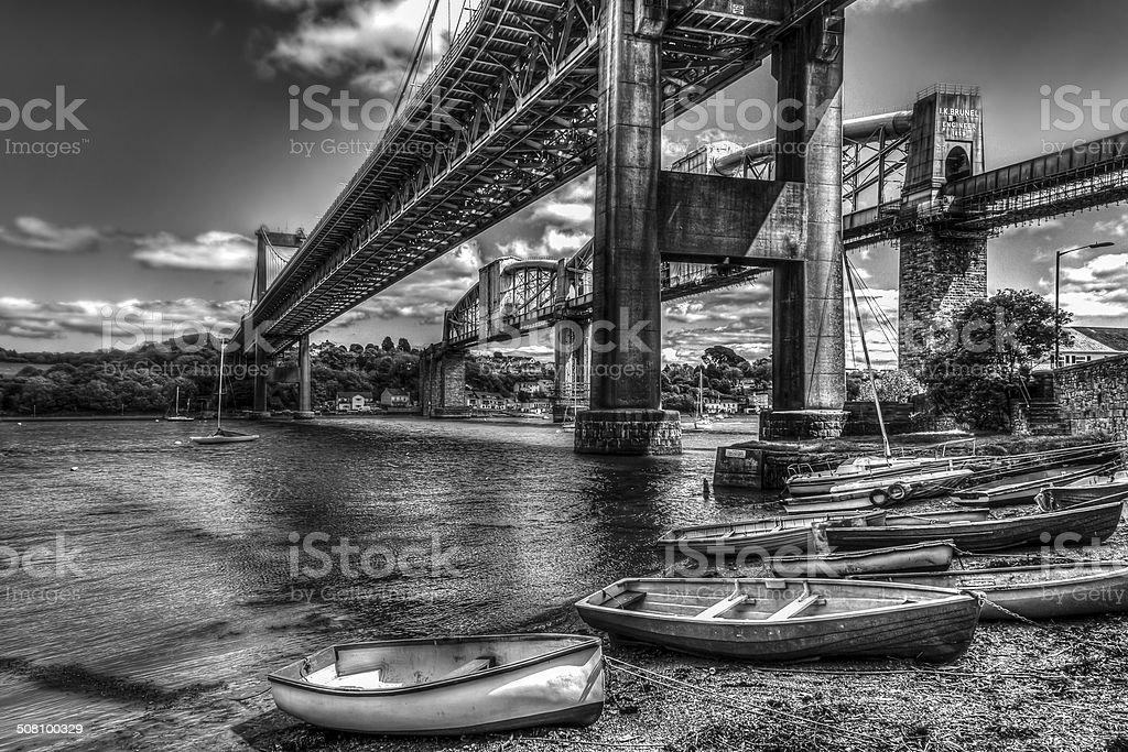 Saltash Bridge stock photo