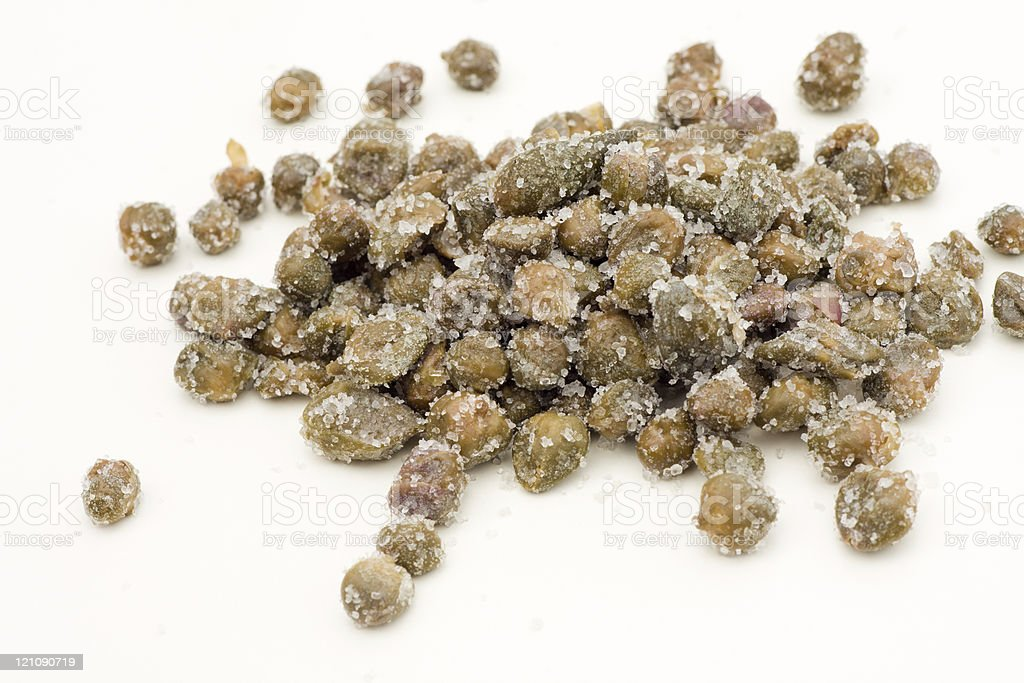 Salted capers stock photo