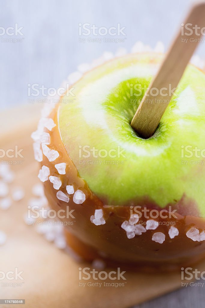 Salted Caramel Apple royalty-free stock photo