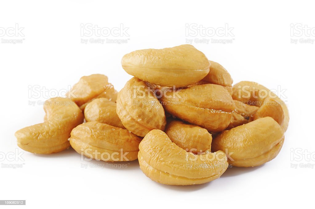 Salted cashews royalty-free stock photo