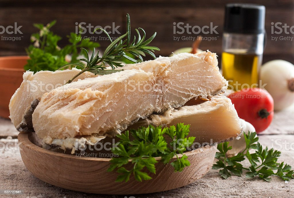 salted codfish stock photo