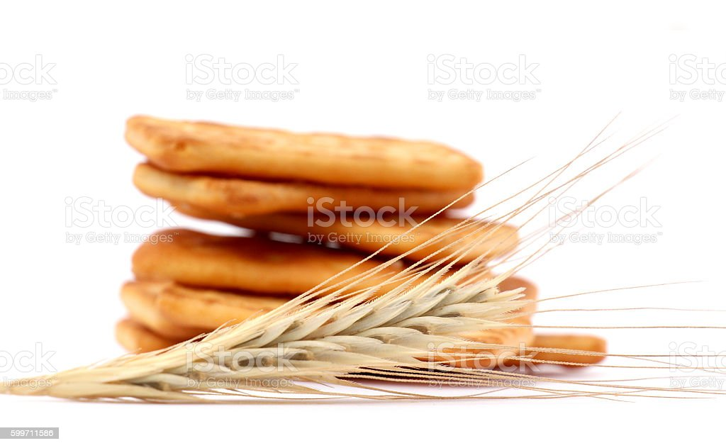 salted crackers stock photo