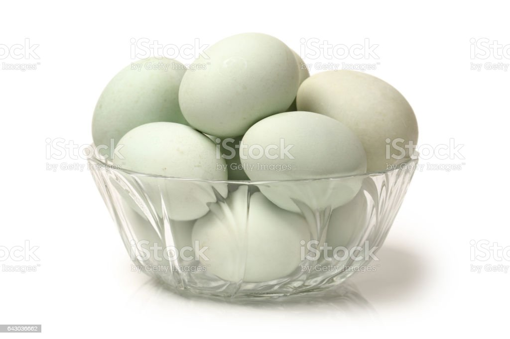 Salted Duck eggs   isolated on white background. With clipping path stock photo
