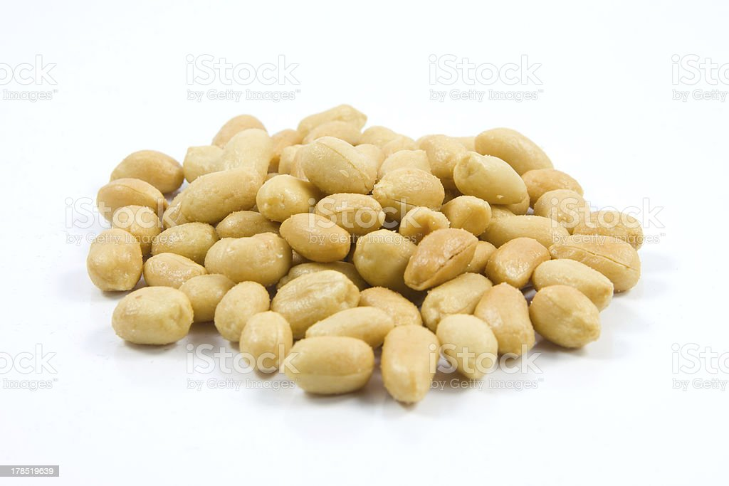 Salted peanuts. royalty-free stock photo