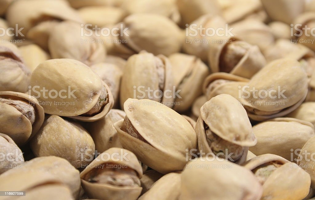 Salted pistachio zooming royalty-free stock photo