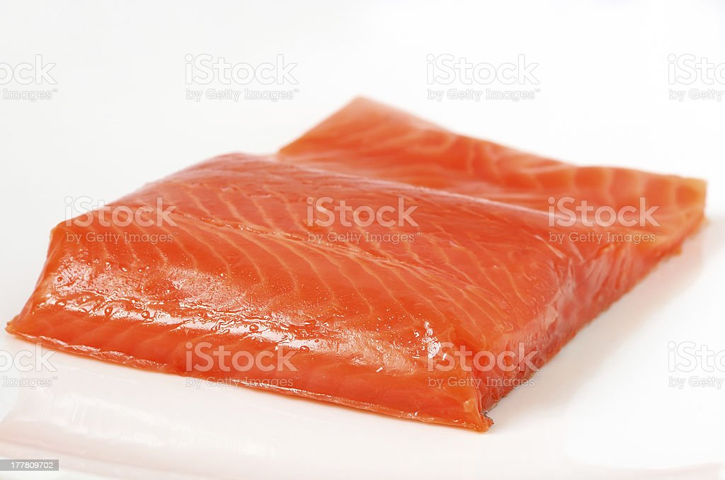 Salted salmon fillet royalty-free stock photo