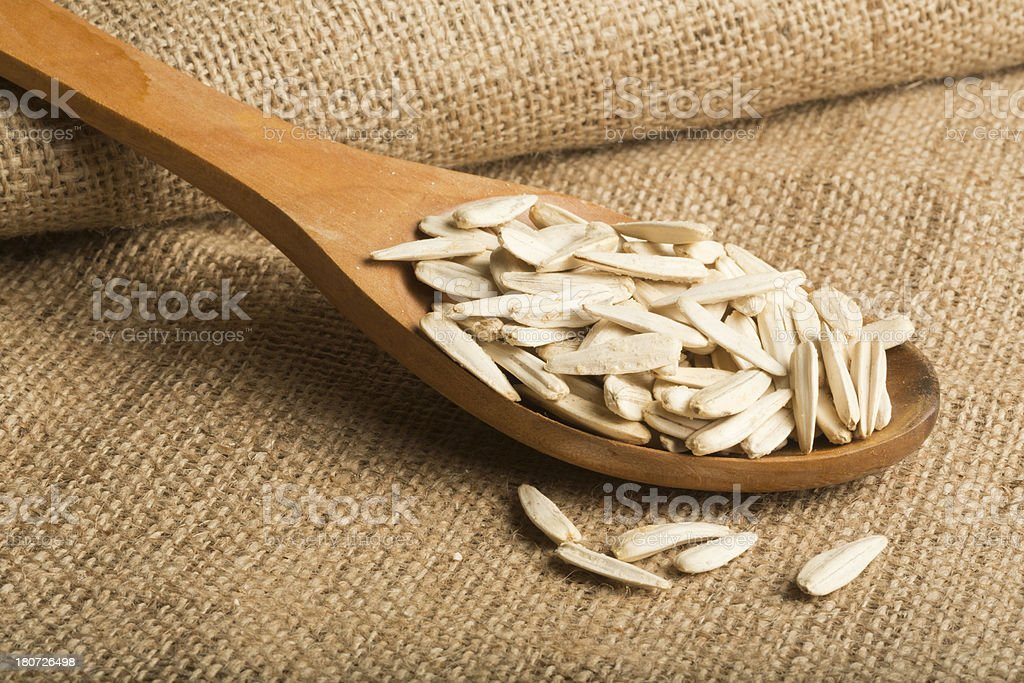 Salted Sunflower Seeds royalty-free stock photo