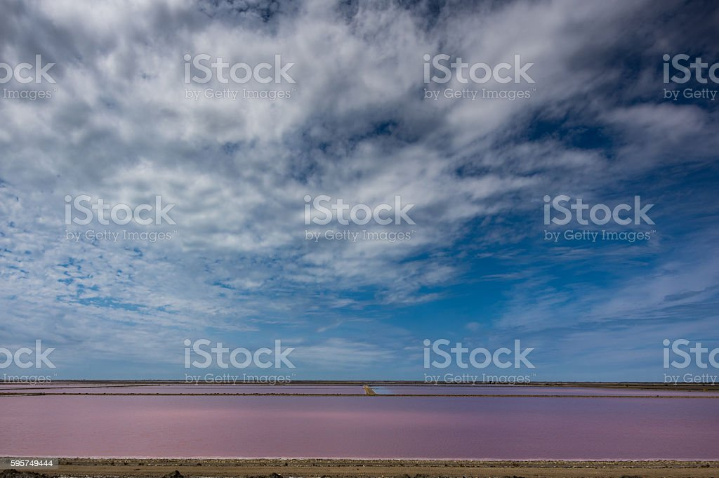 Saltern in Giraud stock photo