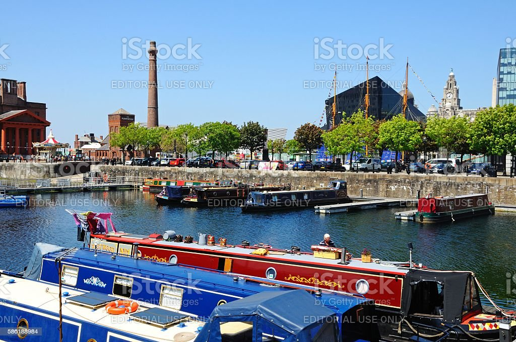 Salthouse Dock, Liverpool. stock photo