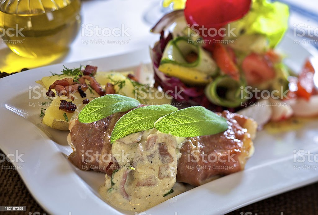 Saltimbocca - italian speciality royalty-free stock photo