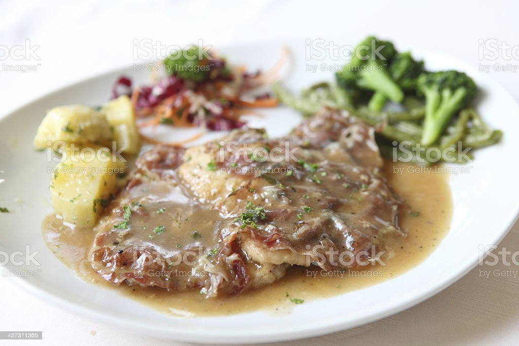 saltimbocca pork steak stock photo