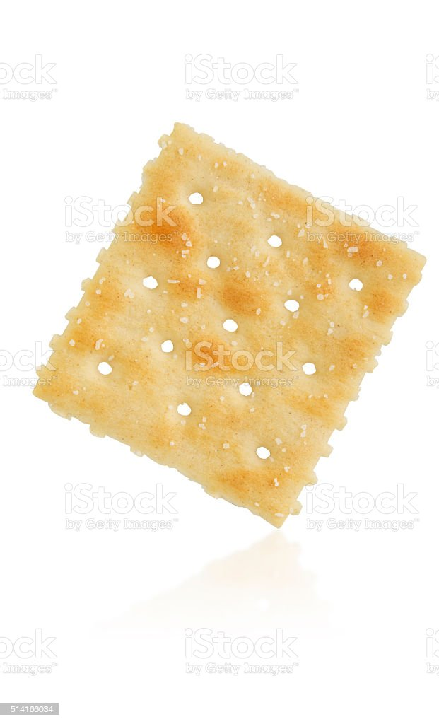 Saltine Cracker on White stock photo