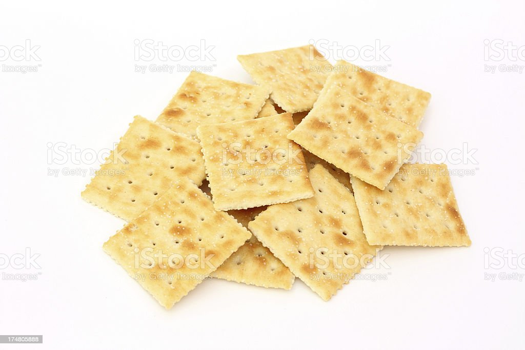 Saltine Crackers royalty-free stock photo