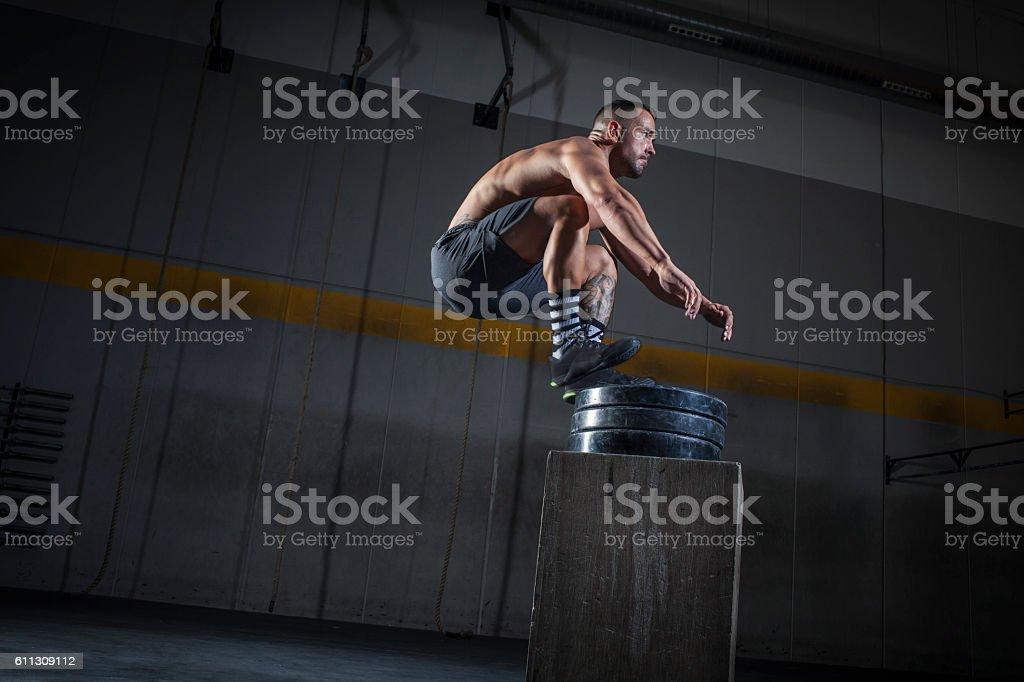 salto de altura stock photo