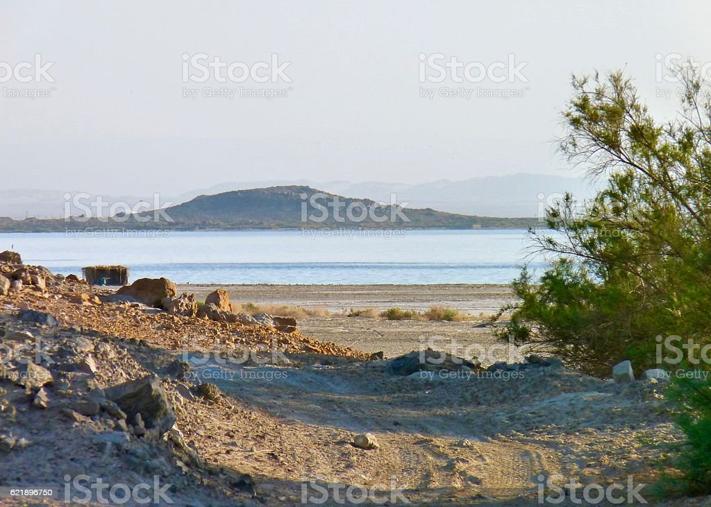 Salton Sea Lagoon stock photo