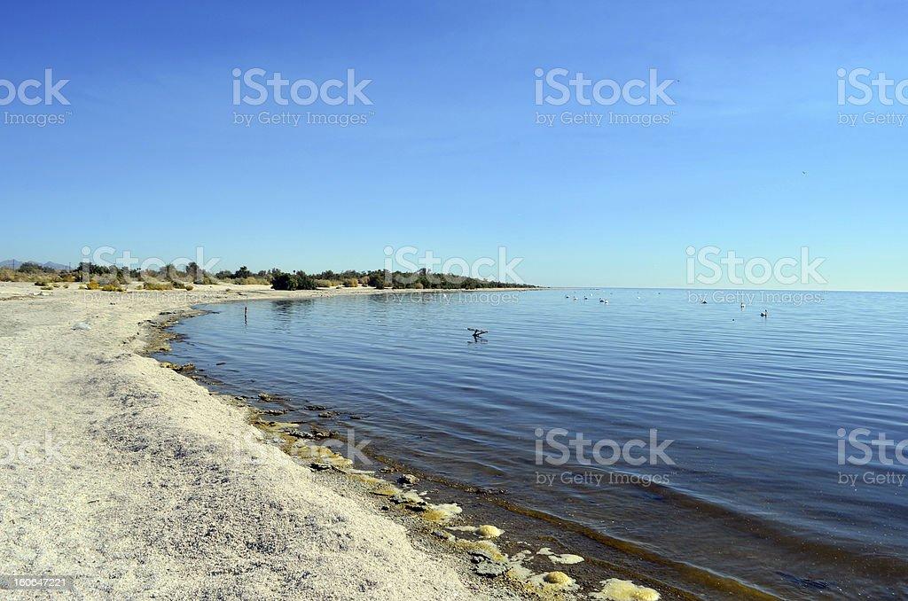 Salton Sea royalty-free stock photo