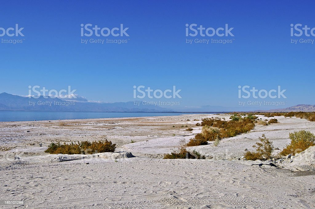 Salton Sea scene, Imperial Valley, Colorado Desert, Southern California USA stock photo