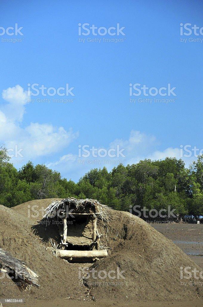 salt-oven - salt extraction stock photo
