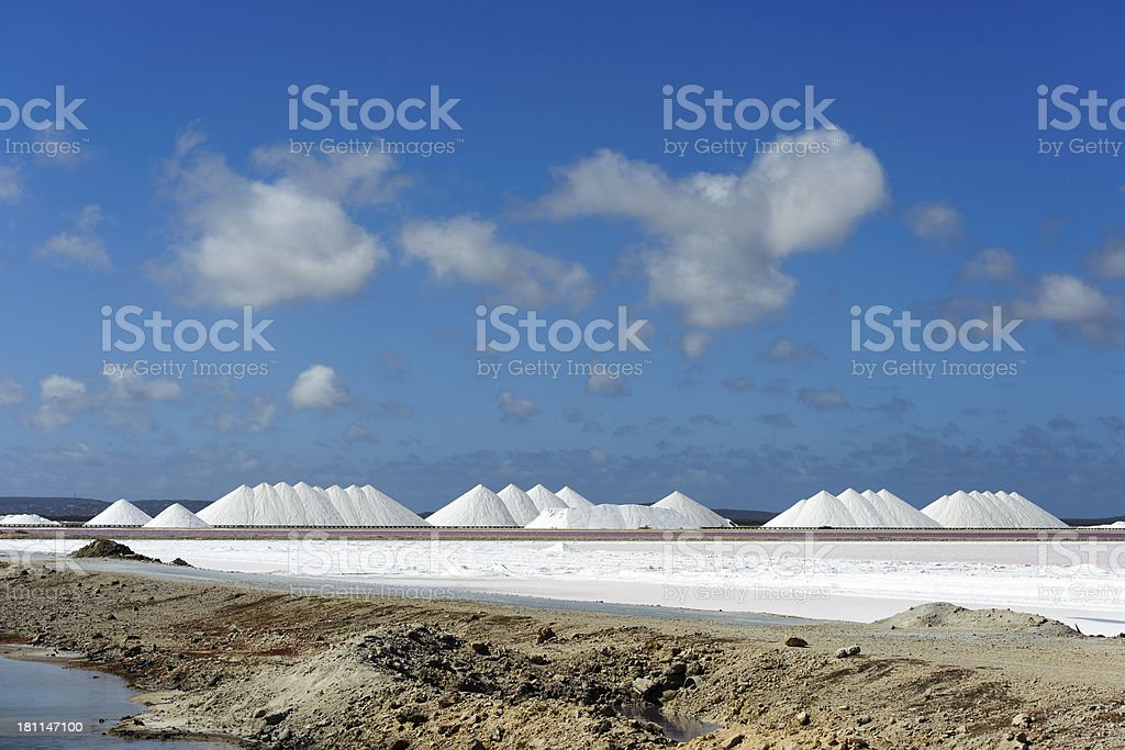 saltplain on the island of bonaire royalty-free stock photo