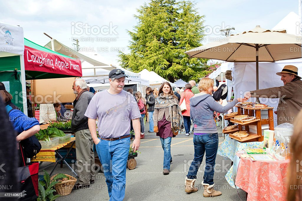 Saltspring Island Market stock photo