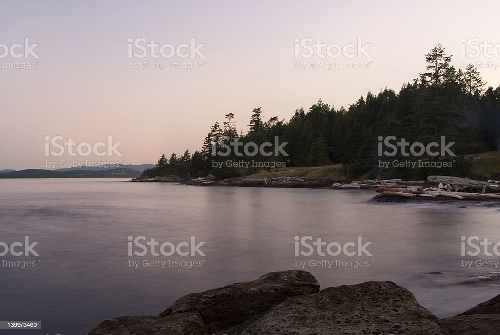 Saltspring Sunset stock photo