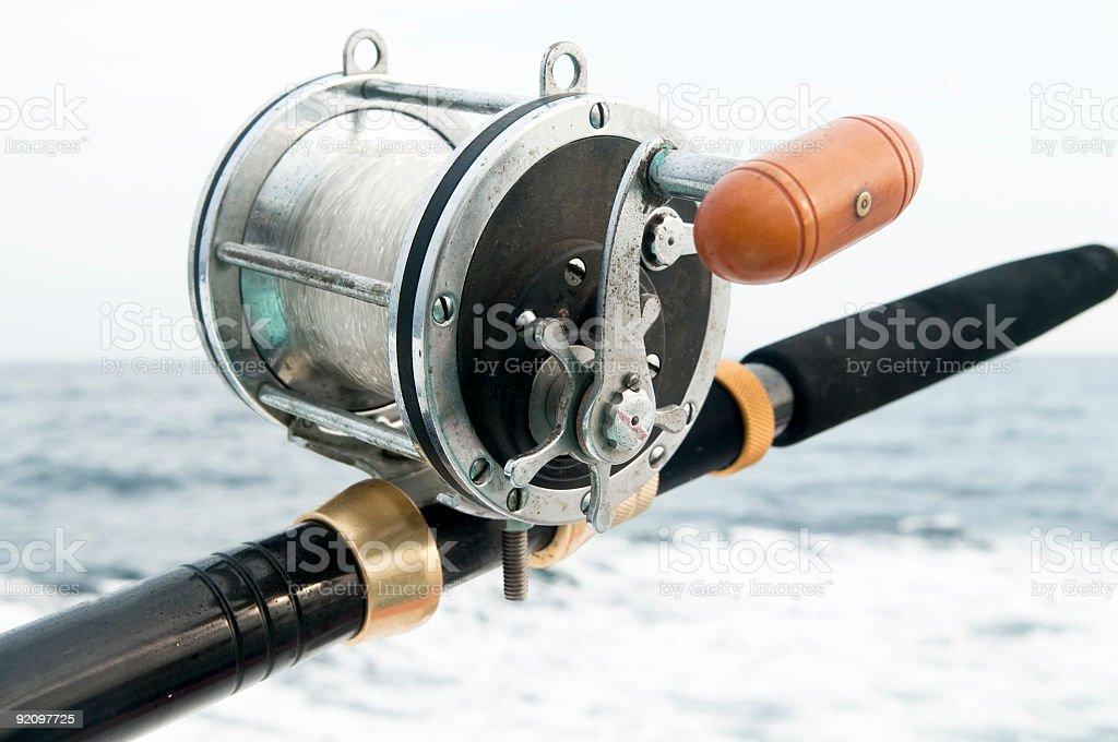 saltwater fishing reel royalty-free stock photo