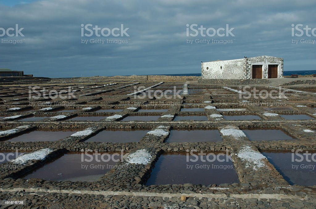 Saltworks royalty-free stock photo