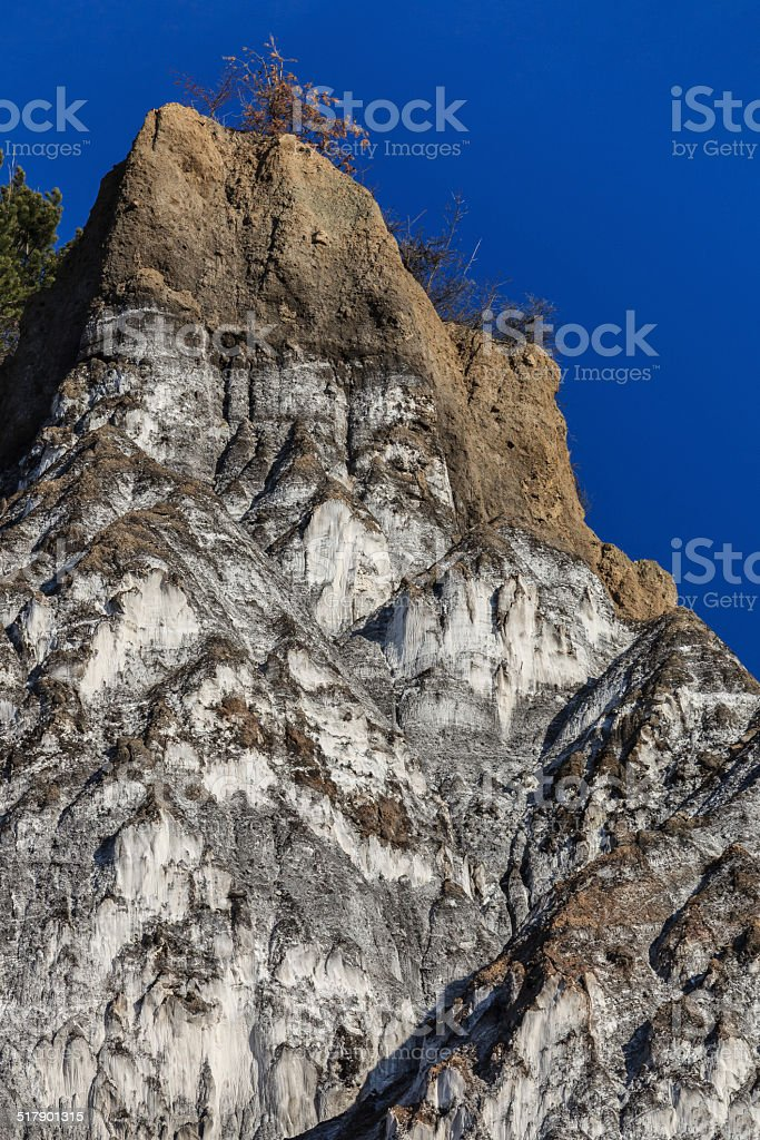 Salty hills stock photo