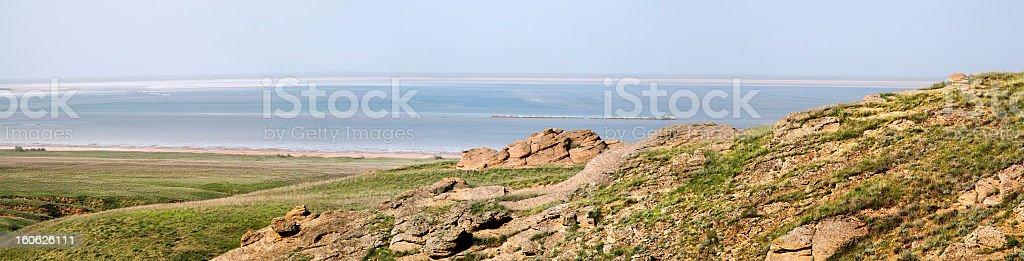 Salty lake Baskunchak. royalty-free stock photo