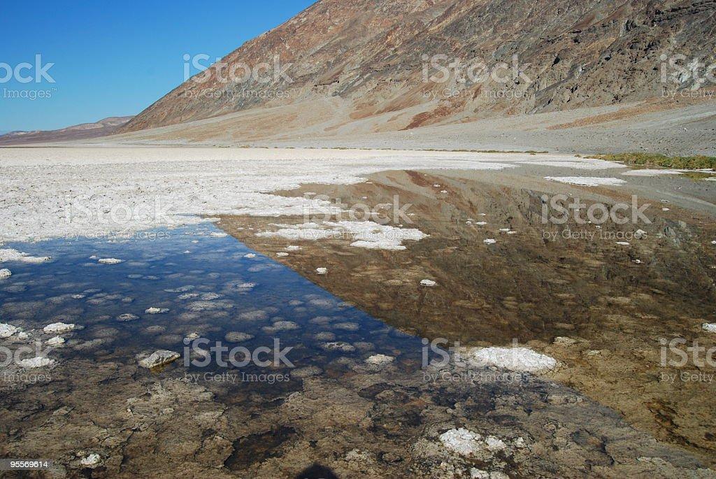 Salty Mirror stock photo