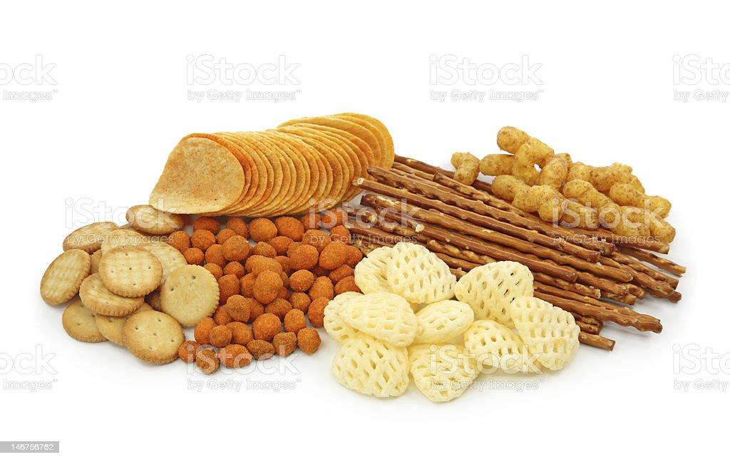 Salty snacks stock photo
