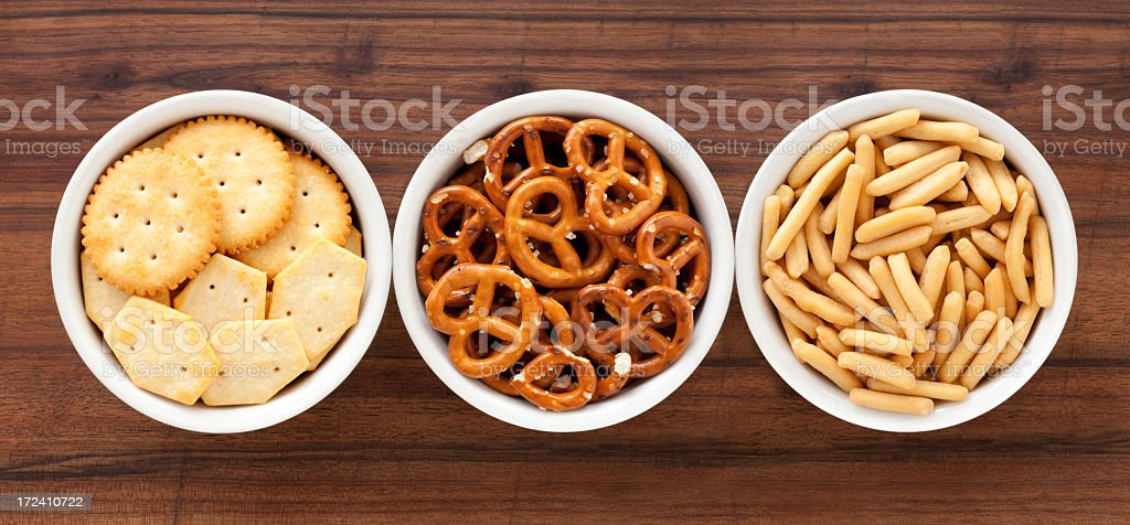 Salty snacks royalty-free stock photo