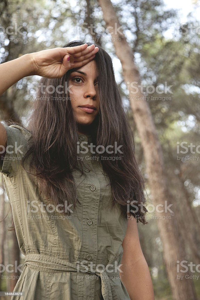 Salute In The Wood royalty-free stock photo