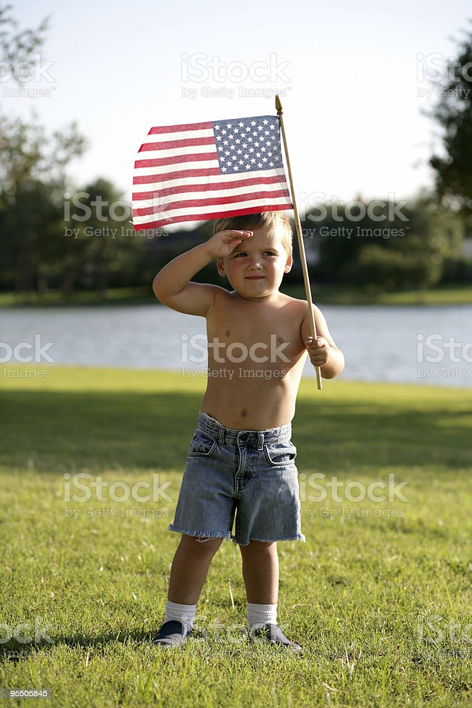 Salute to America stock photo