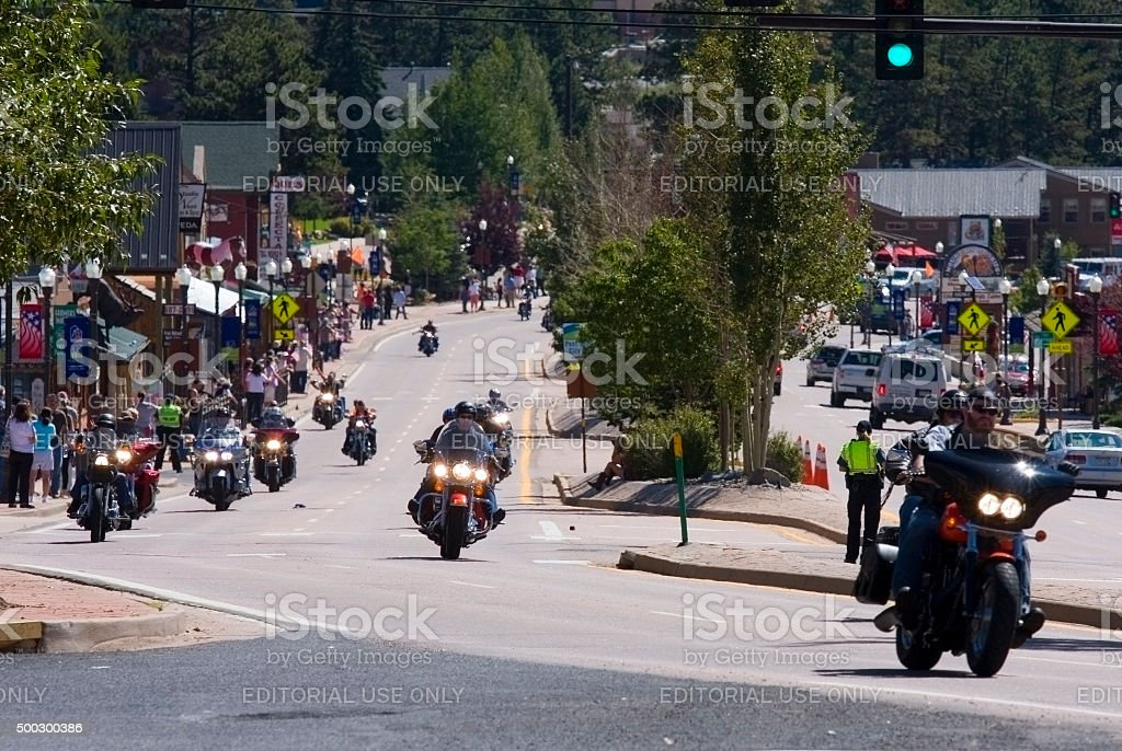 Salute to Veterans Motorcycle Bike Rally stock photo