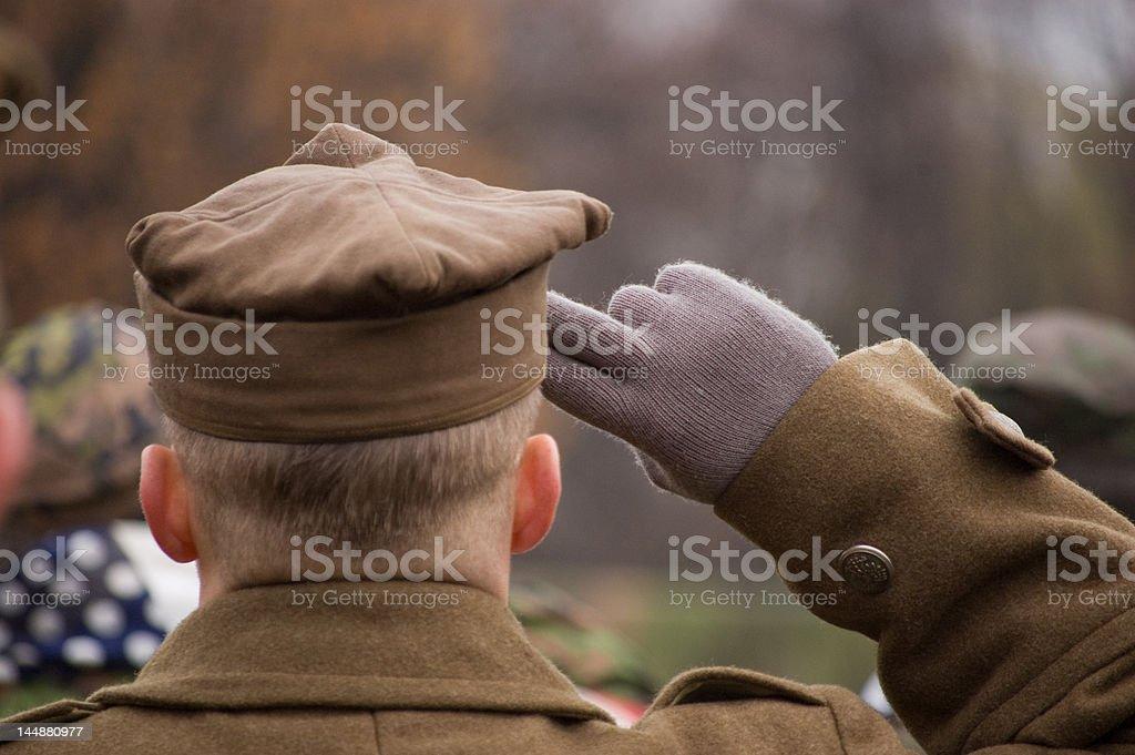 Salutujący Żołnierz stock photo
