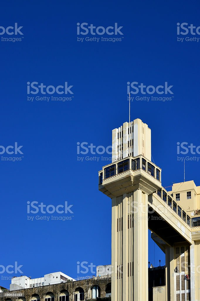 Salvador, Bahia - Lacerda elevator and vast blue sky stock photo
