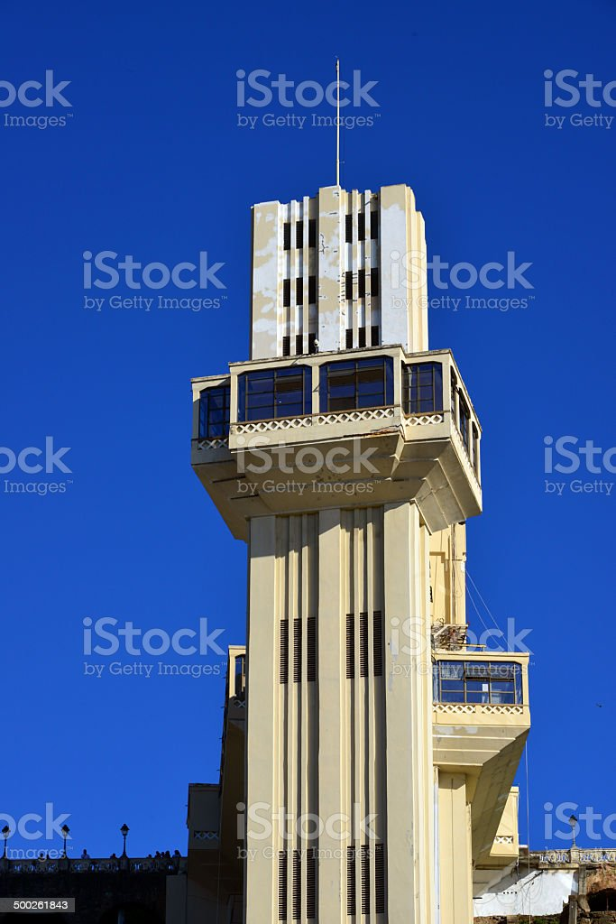 Salvador, Bahia - Lacerda elevator front view stock photo