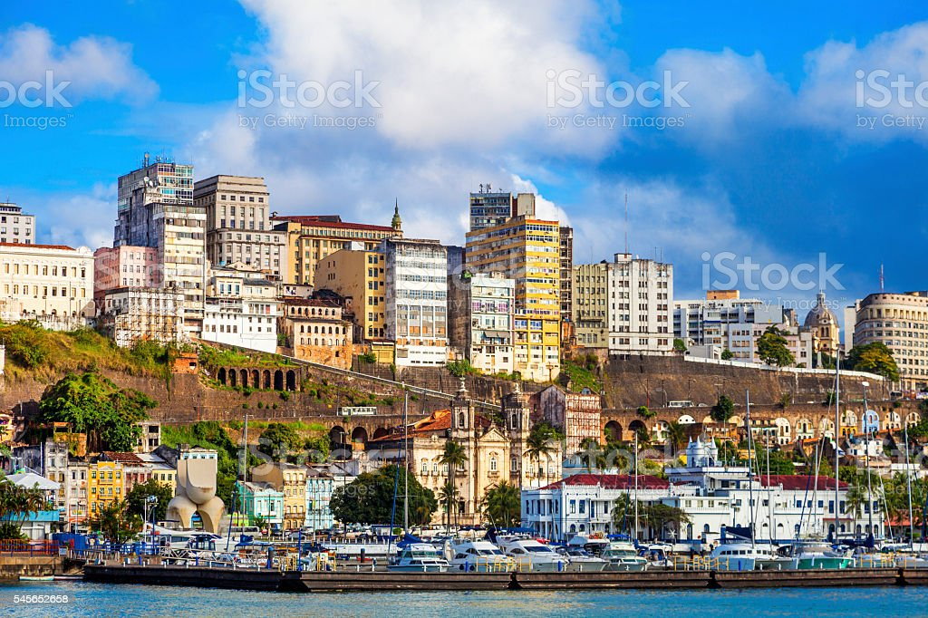 Salvador, Bahia´s capital stock photo