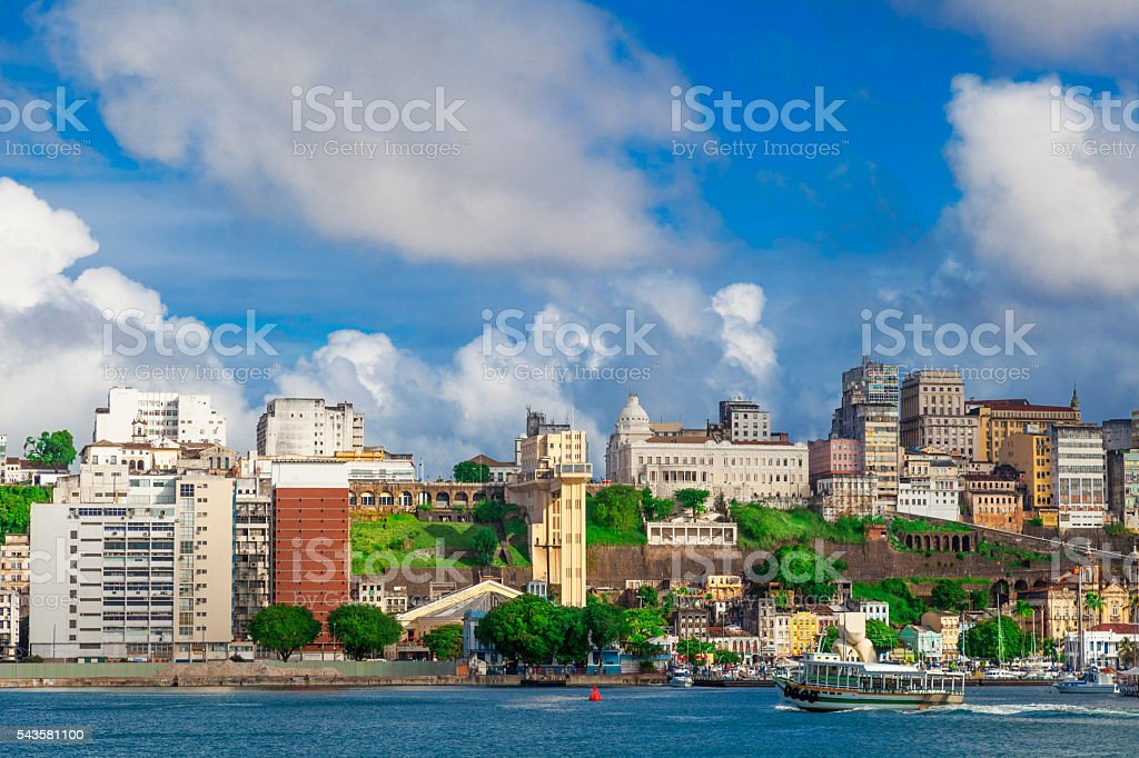 Salvador, capital of the State of Bahia stock photo
