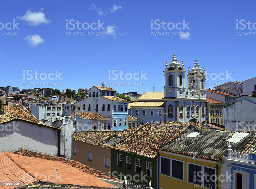 Salvador da Bahia, Brazil: historic center stock photo