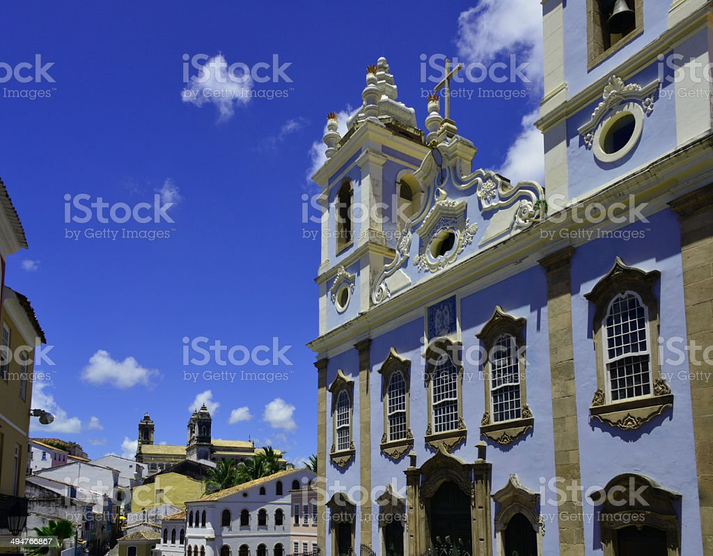 Salvador da Bahia, Brazil, Rosary of the Blacks Church stock photo
